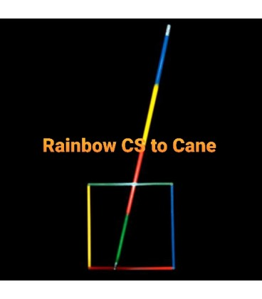 Rainbow Circle to Square to Cane