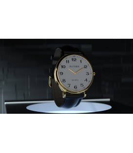 Infinity Watch V3 - Gold Case White Dial